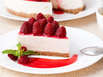 Secret Weapon Raspberry Cheesecake
