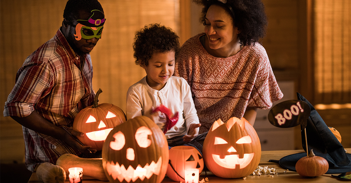 Have a pumpkin carving contest at home