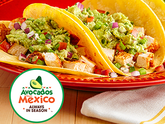 tacos with chicken and avocado