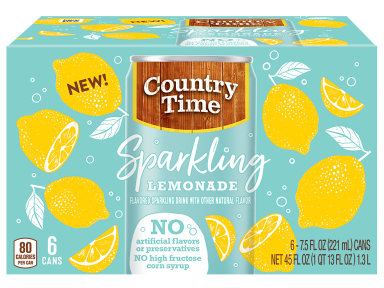New Country Time Sparkling Lemonade