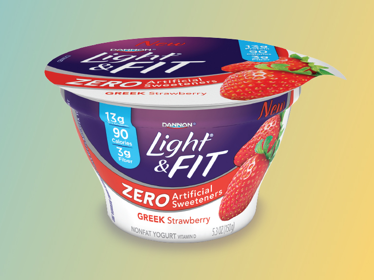 Dannon light and fit greek strawberry yogurt package