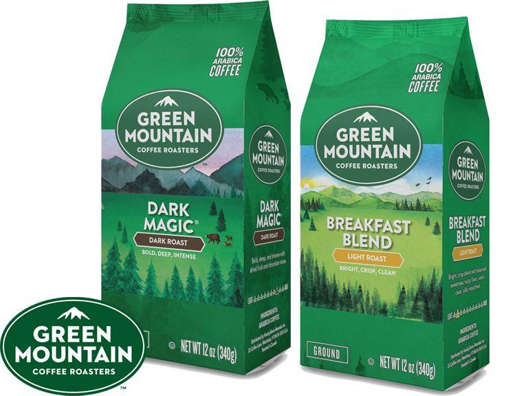 Green Mountain, delicious coffee sourced from around the world.