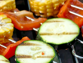 Veggies on a grill