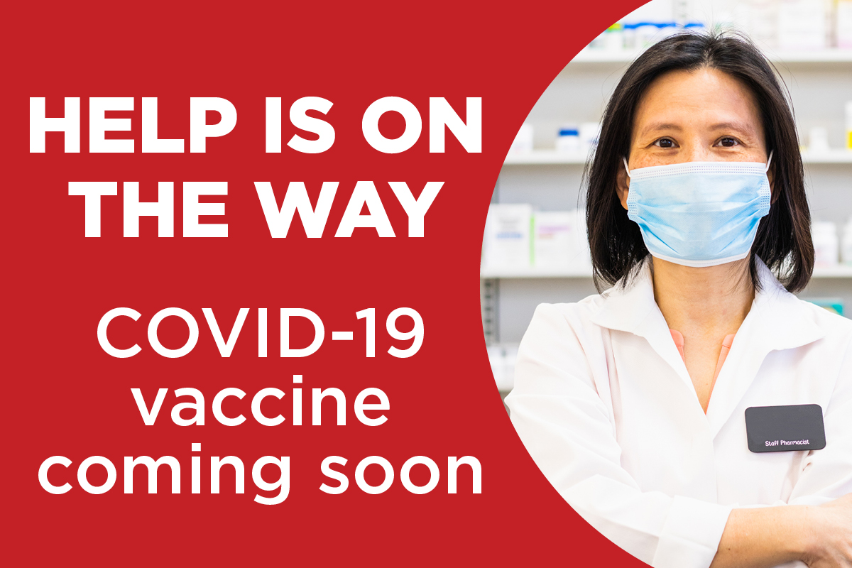 COVID-19 vaccine coming soon
