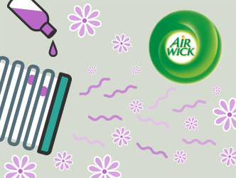Air Wick essential oil in your furnace filter to freshen the whole house