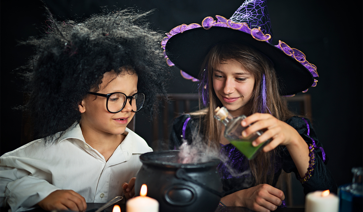 Kids have a great time making potions.