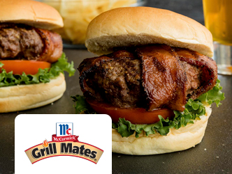 Recipe for Montreal Steak Bacon-Wrapped Burgers