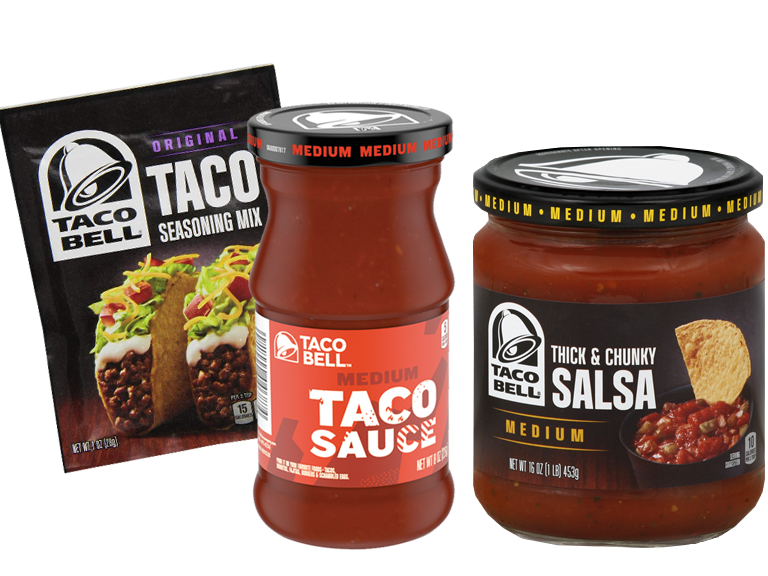 Make your taco night deliciously complete with the new Taco Bell Sauces.