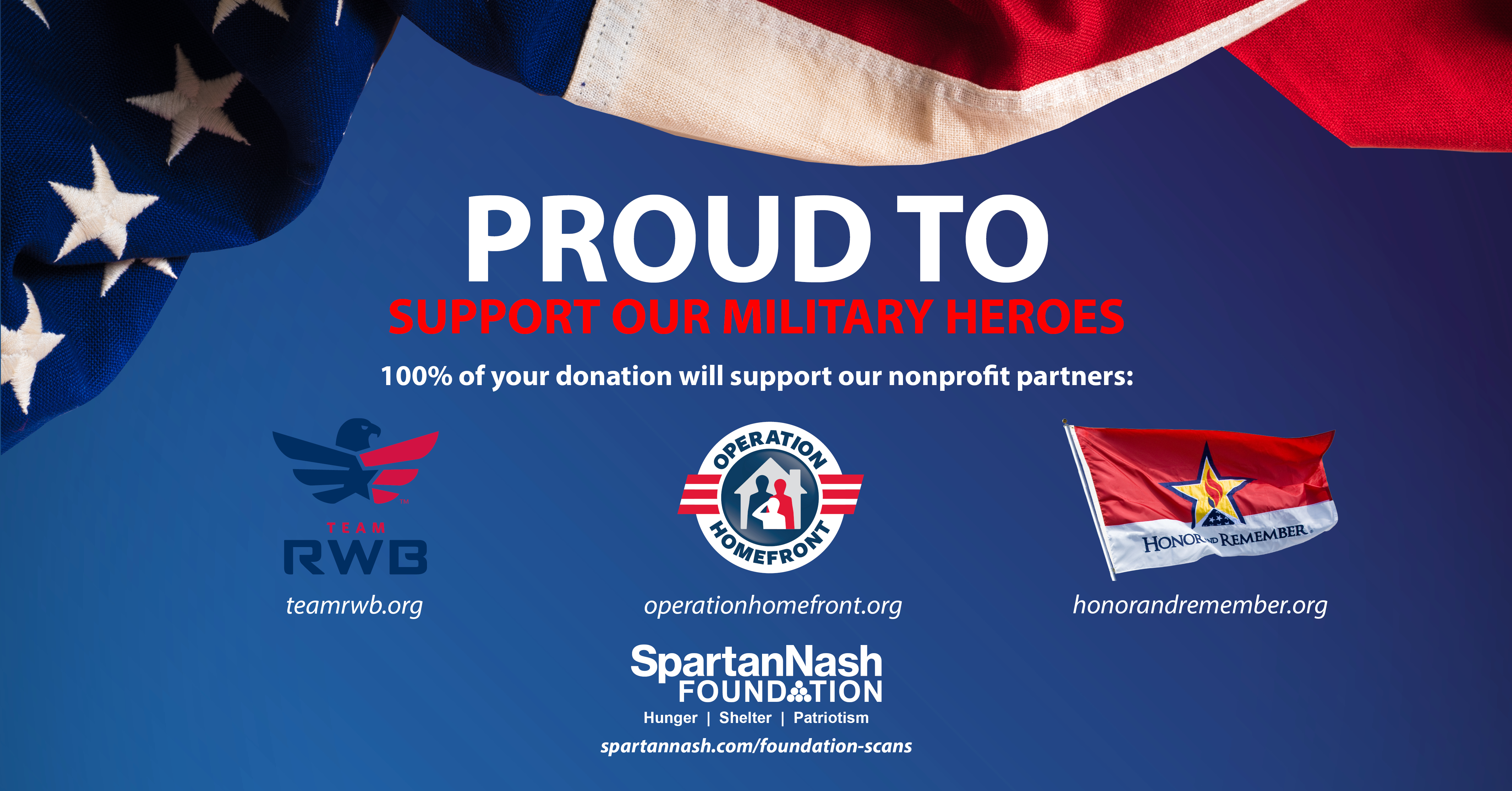 Proud to support our military heroes