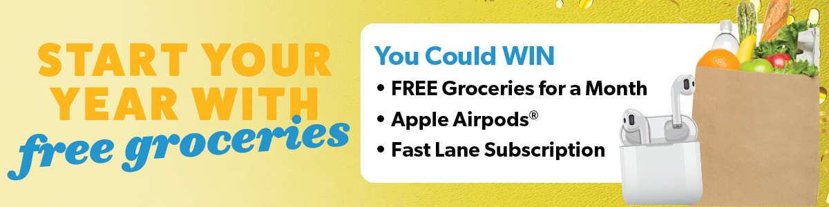 Start your year with free groceries