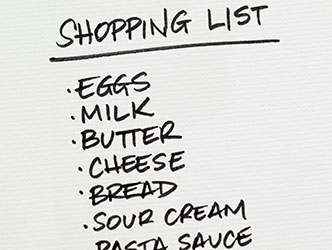 Stick to your grocery shopping list