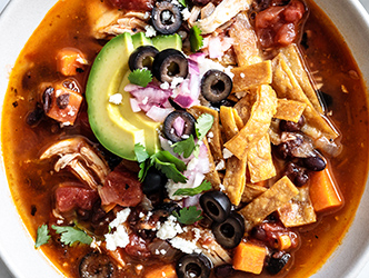 sweet potato chicken tortilla soup