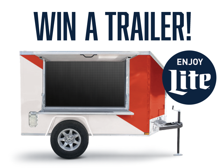 Win a tailgating trailer from MillerCoors!