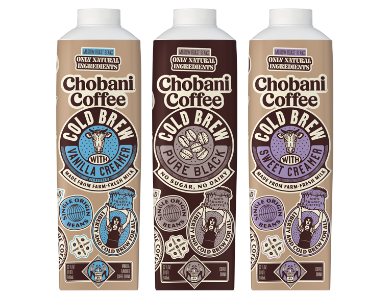 NEW Item! 3 flavors of Chobani bottled cold brew coffee