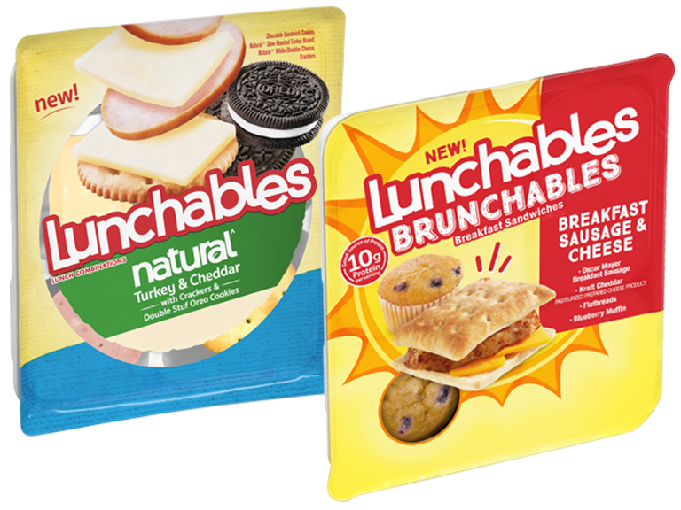Packages of Lunchables Natural Lunchables Brunchables
