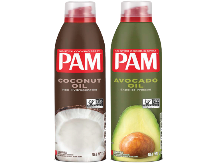 Cans of Pam brand cooking spray