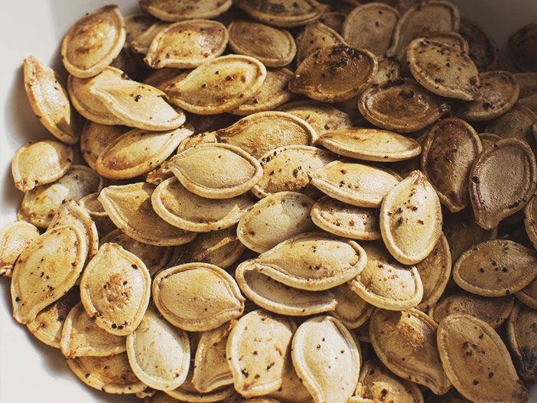 Delicious toasted pumpkin seed recipe.